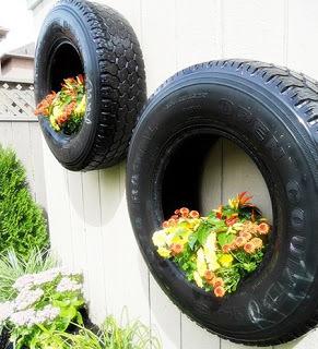 Conserva tus viejos neumáticos y dale vida a tu jardín