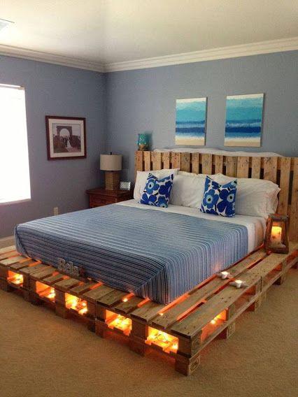 Una original cama con palés
