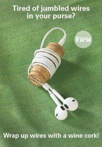 Guarda tus cascos (audifonos) sin que se enrede el cable