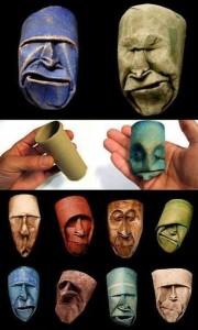 Arte con rollos de papel higienico