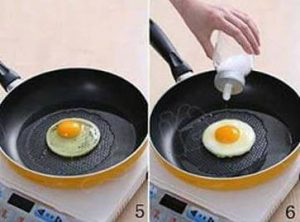 Como freír huevos completamente redondos