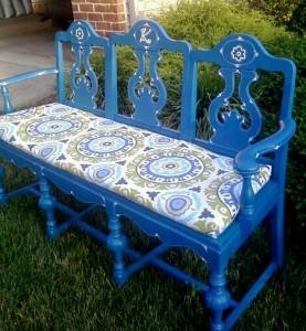 Como hacer un banco para tu jardín con sillas viejas