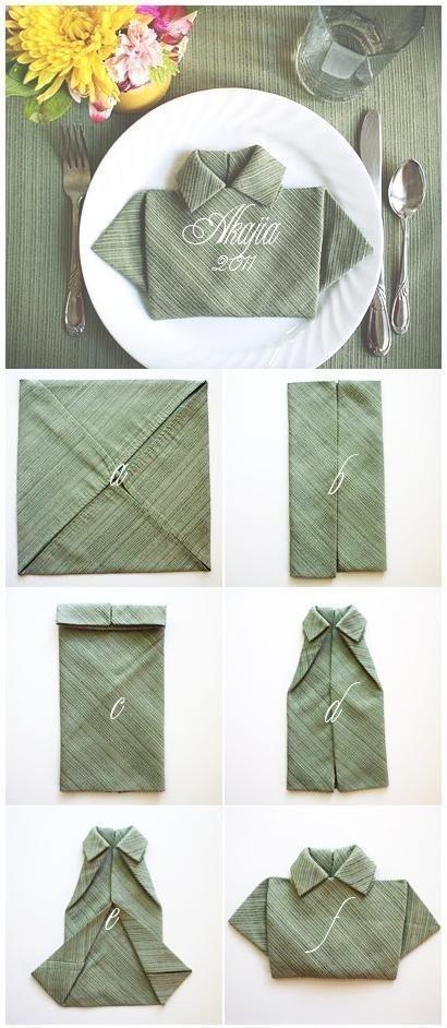 doblar servilletas de una manera original